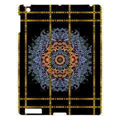 Blue Bloom Golden And Metal Apple Ipad 3/4 Hardshell Case by pepitasart