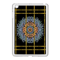 Blue Bloom Golden And Metal Apple Ipad Mini Case (white) by pepitasart