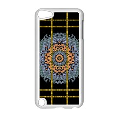 Blue Bloom Golden And Metal Apple Ipod Touch 5 Case (white) by pepitasart