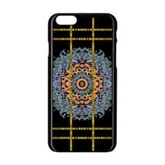 Blue Bloom Golden And Metal Apple Iphone 6/6s Black Enamel Case by pepitasart