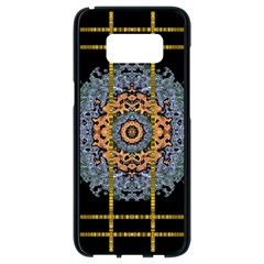 Blue Bloom Golden And Metal Samsung Galaxy S8 Black Seamless Case by pepitasart