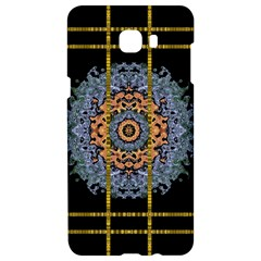 Blue Bloom Golden And Metal Samsung C9 Pro Hardshell Case  by pepitasart