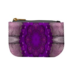 Fantasy Flowers In Harmony  In Lilac Mini Coin Purses by pepitasart
