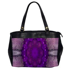 Fantasy Flowers In Harmony  In Lilac Office Handbags by pepitasart