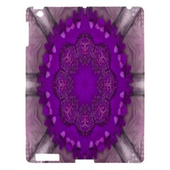 Fantasy Flowers In Harmony  In Lilac Apple Ipad 3/4 Hardshell Case by pepitasart