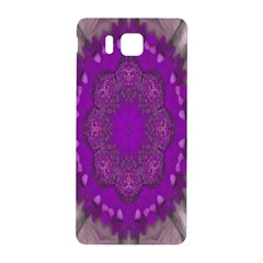 Fantasy Flowers In Harmony  In Lilac Samsung Galaxy Alpha Hardshell Back Case by pepitasart