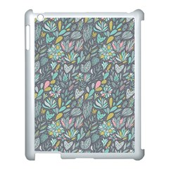 Cactus Pattern Green  Apple Ipad 3/4 Case (white) by Mishacat
