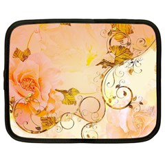 Wonderful Floral Design In Soft Colors Netbook Case (xl)