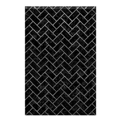Brick2 Black Marble & Gray Leather Shower Curtain 48  X 72  (small)  by trendistuff