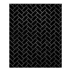 Brick2 Black Marble & Gray Leather Shower Curtain 60  X 72  (medium)  by trendistuff