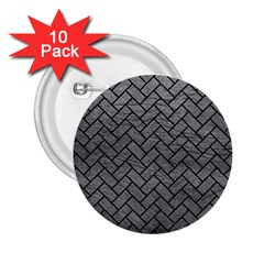 Brick2 Black Marble & Gray Leather (r) 2 25  Buttons (10 Pack)  by trendistuff