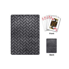 Brick2 Black Marble & Gray Leather (r) Playing Cards (mini)  by trendistuff