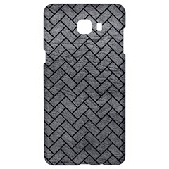 Brick2 Black Marble & Gray Leather (r) Samsung C9 Pro Hardshell Case  by trendistuff