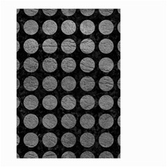 Circles1 Black Marble & Gray Leather Small Garden Flag (two Sides) by trendistuff