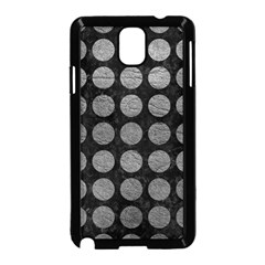 Circles1 Black Marble & Gray Leather Samsung Galaxy Note 3 Neo Hardshell Case (black) by trendistuff