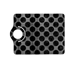 Circles2 Black Marble & Gray Leather (r) Kindle Fire Hd (2013) Flip 360 Case by trendistuff