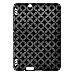 Circles3 Black Marble & Gray Leather Kindle Fire Hdx Hardshell Case by trendistuff