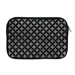 Circles3 Black Marble & Gray Leather (r) Apple Macbook Pro 17  Zipper Case by trendistuff