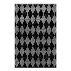 Diamond1 Black Marble & Gray Leather Shower Curtain 48  X 72  (small)  by trendistuff