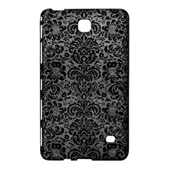 Damask2 Black Marble & Gray Leather (r) Samsung Galaxy Tab 4 (7 ) Hardshell Case  by trendistuff
