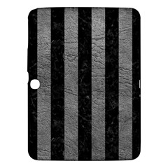 Stripes1 Black Marble & Gray Leather Samsung Galaxy Tab 3 (10 1 ) P5200 Hardshell Case  by trendistuff