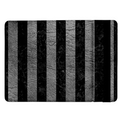 Stripes1 Black Marble & Gray Leather Samsung Galaxy Tab Pro 12 2  Flip Case by trendistuff