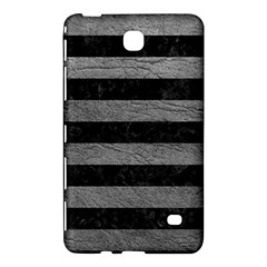 Stripes2 Black Marble & Gray Leather Samsung Galaxy Tab 4 (8 ) Hardshell Case  by trendistuff