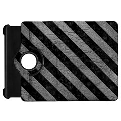 Stripes3 Black Marble & Gray Leather (r) Kindle Fire Hd 7  by trendistuff