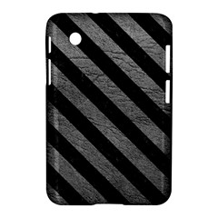 Stripes3 Black Marble & Gray Leather (r) Samsung Galaxy Tab 2 (7 ) P3100 Hardshell Case  by trendistuff