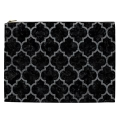 Tile1 Black Marble & Gray Leathertile1 Black Marble & Gray Leather Cosmetic Bag (xxl)  by trendistuff