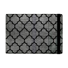 Tile1 Black Marble & Gray Leather (r) Apple Ipad Mini Flip Case by trendistuff