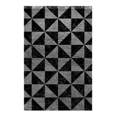 Triangle1 Black Marble & Gray Leather Shower Curtain 48  X 72  (small)  by trendistuff