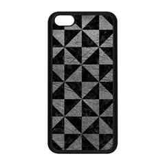 Triangle1 Black Marble & Gray Leather Apple Iphone 5c Seamless Case (black) by trendistuff