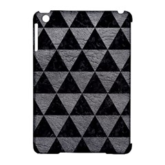 Triangle3 Black Marble & Gray Leather Apple Ipad Mini Hardshell Case (compatible With Smart Cover) by trendistuff