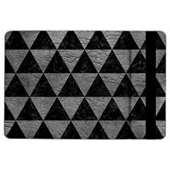 Triangle3 Black Marble & Gray Leather Ipad Air 2 Flip by trendistuff