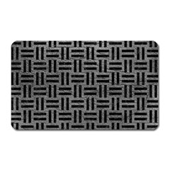 Woven1 Black Marble & Gray Leather (r) Magnet (rectangular) by trendistuff