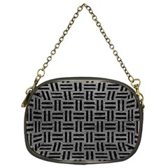 Woven1 Black Marble & Gray Leather (r) Chain Purses (one Side)  by trendistuff