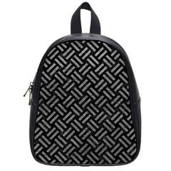 Woven2 Black Marble & Gray Leather School Bag (small) by trendistuff
