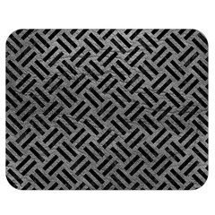 Woven2 Black Marble & Gray Leather (r) Double Sided Flano Blanket (medium)  by trendistuff