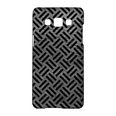 Woven2 Black Marble & Gray Leather (r) Samsung Galaxy A5 Hardshell Case  by trendistuff