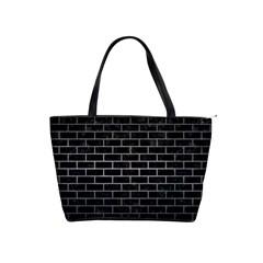 Brick1 Black Marble & Gray Metal 1 Shoulder Handbags by trendistuff