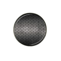 Brick1 Black Marble & Gray Metal 1 (r) Hat Clip Ball Marker (10 Pack) by trendistuff