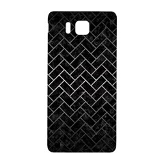 Brick2 Black Marble & Gray Metal 1 Samsung Galaxy Alpha Hardshell Back Case by trendistuff