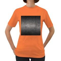 Brick2 Black Marble & Gray Metal 1 (r) Women s Dark T Shirt by trendistuff