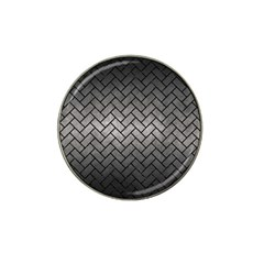 Brick2 Black Marble & Gray Metal 1 (r) Hat Clip Ball Marker (4 Pack)