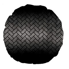 Brick2 Black Marble & Gray Metal 1 (r) Large 18  Premium Flano Round Cushions by trendistuff