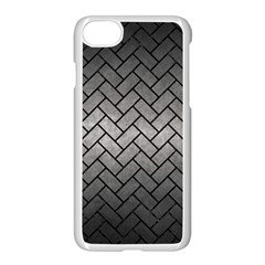 Brick2 Black Marble & Gray Metal 1 (r) Apple Iphone 7 Seamless Case (white) by trendistuff