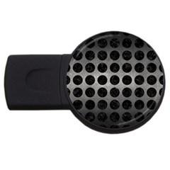 Circles1 Black Marble & Gray Metal 1 (r) Usb Flash Drive Round (2 Gb) by trendistuff