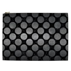 Circles2 Black Marble & Gray Metal 1 Cosmetic Bag (xxl)  by trendistuff