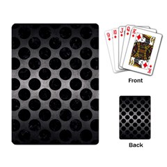 Circles2 Black Marble & Gray Metal 1 (r) Playing Card by trendistuff
